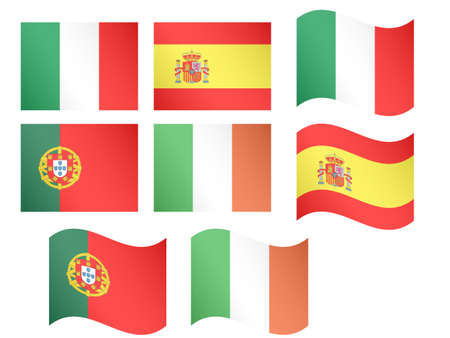 European Flags 2 EPS 10 Vector