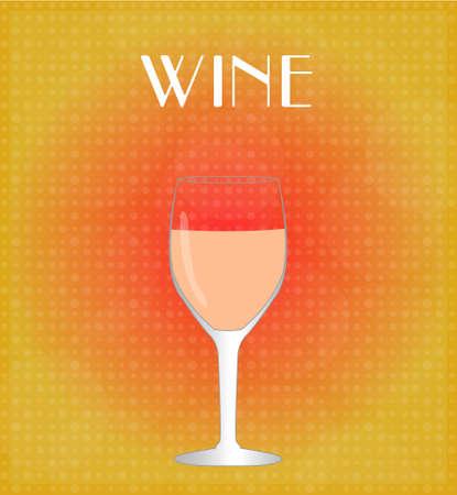 Drinks List Rosé Wine with Red   Golden Background EPS10 Stok Fotoğraf - 28023098