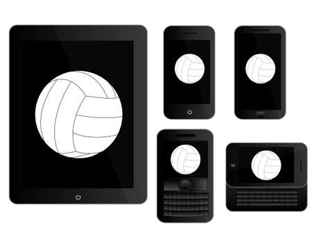 mobile devices: Mobile Devices with Ball Black