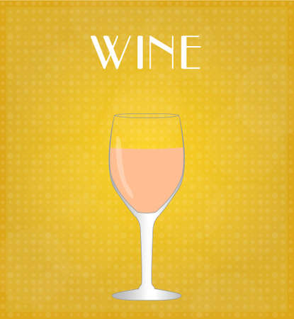 Drinks List Rosé Wine with Golden Background EPS10 Stok Fotoğraf - 28023100
