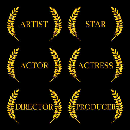 Film Stars Laurels 2 Vector