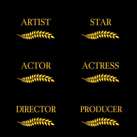 Film Stars Laurels 4 Vector