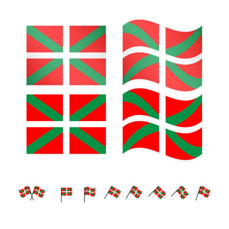 bilbao: Basque Country Flags EPS 10