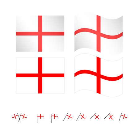 compatriot: England Flags EPS 10 Illustration