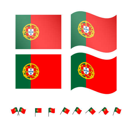 Portugal Flags EPS 10 Vector
