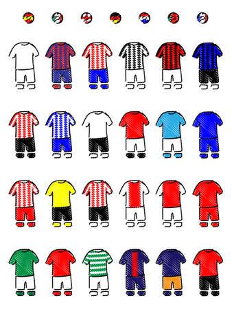 jersey: European Clubs Jerseys Football Kits A Football Kits Pencil Style