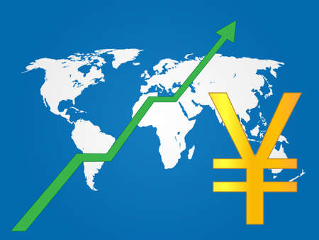 Global Economy Growth Yen EPS 10 Vector