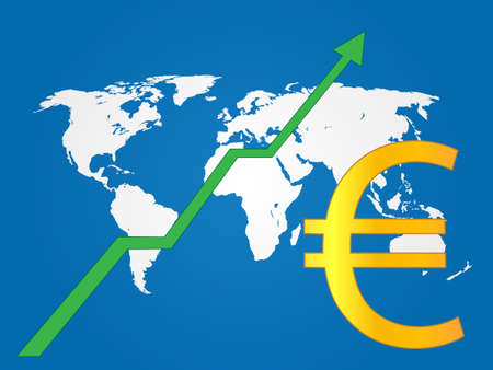 Global Economy Growth Euro EPS 10 Vector