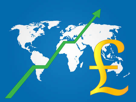 Global Economy Growth Pound EPS 10 Vector