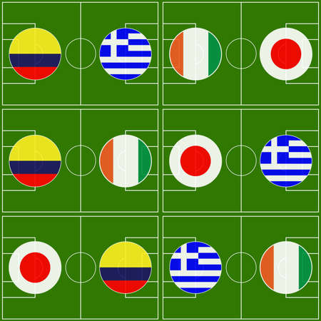 Brazil 2014 Cup Matches Group C Vector