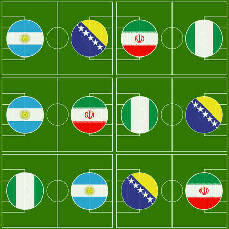 Brazil 2014 Cup Matches Group F Vector