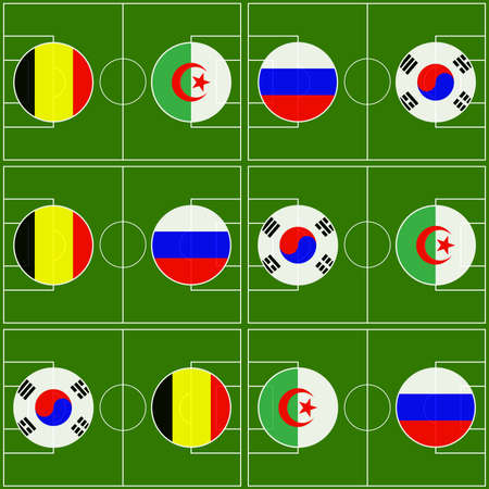 Brazil 2014 Cup Matches Group H Vector