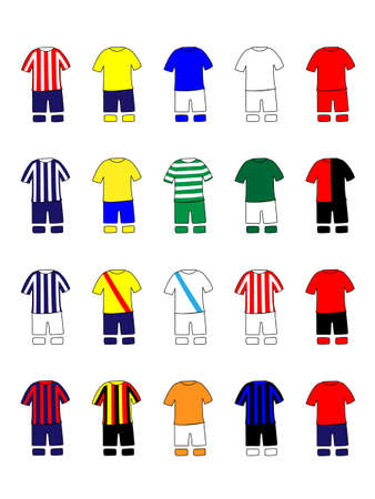 Mexican League Clubs Jerseys Illustration