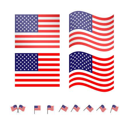 compatriot: United States Flags  Illustration