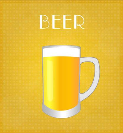 Drinks List Beer with Golden Background  Illustration