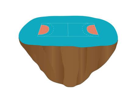 floating: Handball Court Floating Island 1