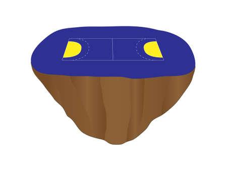 Handball Court Floating Island 2 Stock Vector - 28108761