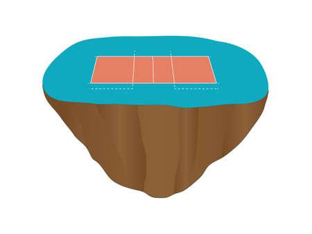 isla flotante: Isla Flotante Cancha de voleibol