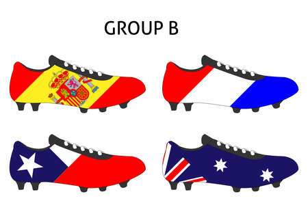 cleats: Brazil 2014 Cup Cleats Group B Illustration