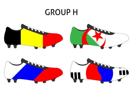 cleats: Brazil 2014 Cup Cleats Group H Illustration