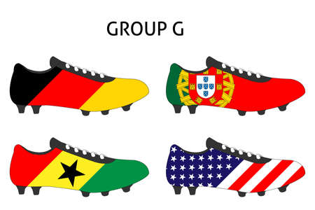 Brazil 2014 Cup Cleats Group G Vector