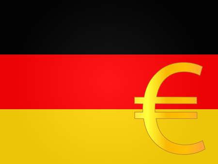deregulation: Euro Currency Sign over the German Flag EPS 10 Illustration