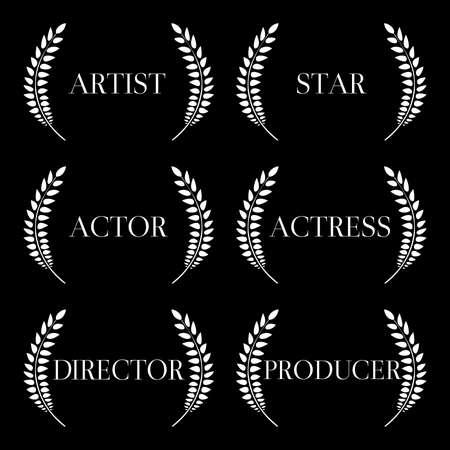 feature films: Film Stars Laurels Black and White