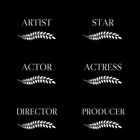 Film Stars Laurels Black and White