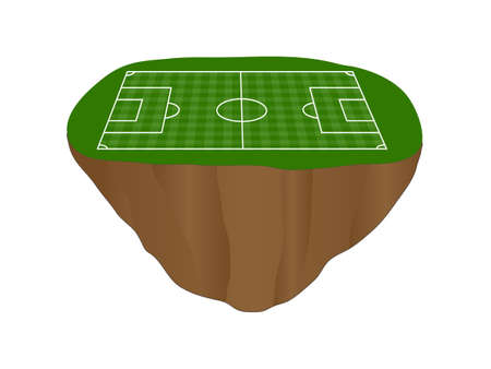 floating island: Football Field with Vertical and Horizontal Pattern Floating Island