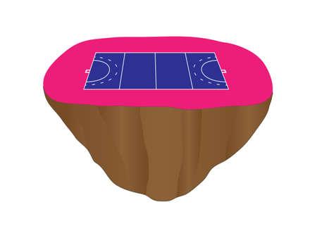 isla flotante: Hockey Corte campo Floating Island 2