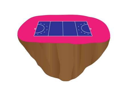 floating island: Hockey Field Court Floating Island 2 Illustration