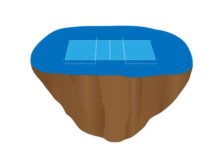 floating island: Volleyball Court on Floating Island