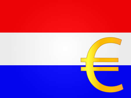 deregulation: Euro Currency Sign over the Dutch Flag