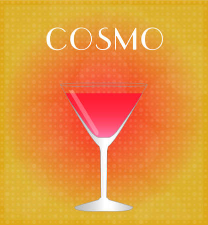 sec: Drinks List Cosmopolitan with Red   Golden Background