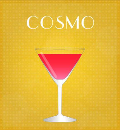 飲み物の黄金の背景を持つ国際的なリストします。