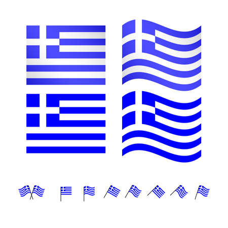 compatriot: Greece Flags  Illustration