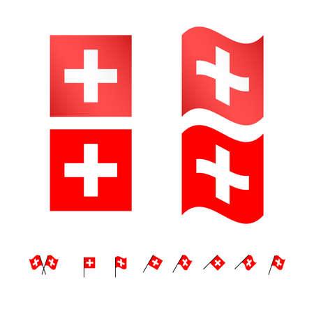 Switzerland Flags  Illustration