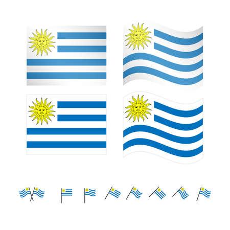 Uruguay Flaggen Standard-Bild - 28527143