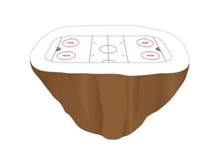 isla flotante: Hockey patines Floating Island