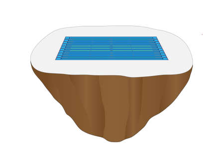 full size: Full Size Competition Pool Floating Island