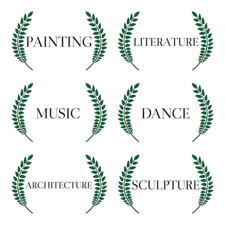 fine arts: Fine Arts Laurels 1 Illustration