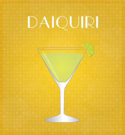 Drinks List Daiquiri with Golden Background