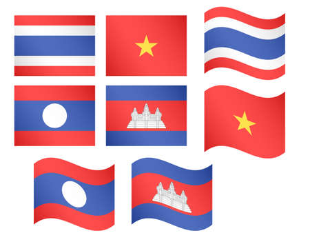compatriot: Asian Flags Illustration