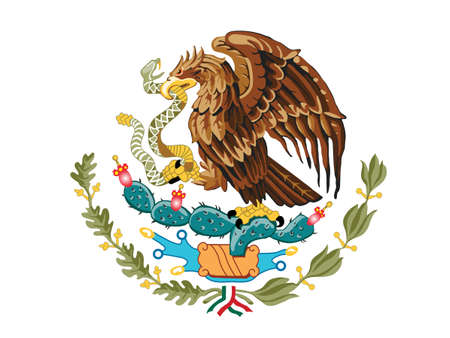 cancun: Mexico Coat of Arms Illustration