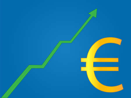 solvency: Currency Growth Euro Illustration