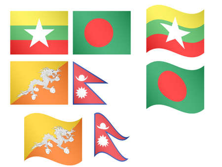 compatriot: Asian Flags Illustration