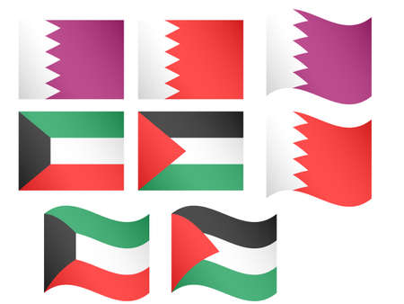 doha: Middle East Flags