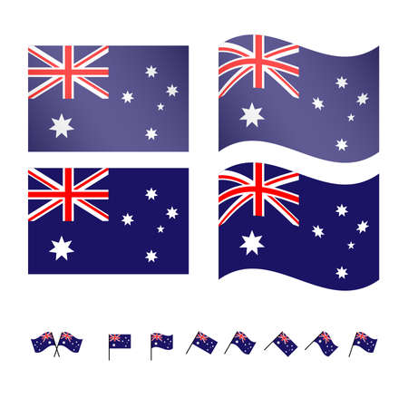 queensland: Australia Flags Illustration