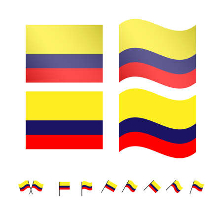 compatriot: Colombia Flags Illustration