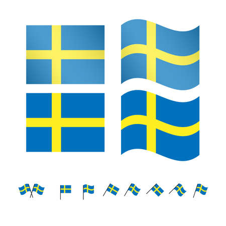 european economic community: Sweden Flags